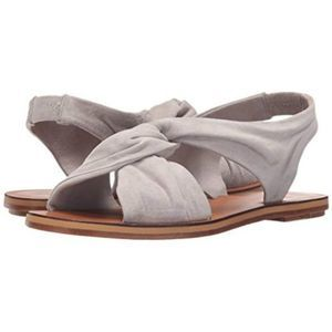 Derek Lam 10 Crosby Pell Flat Dress Sandals Grey